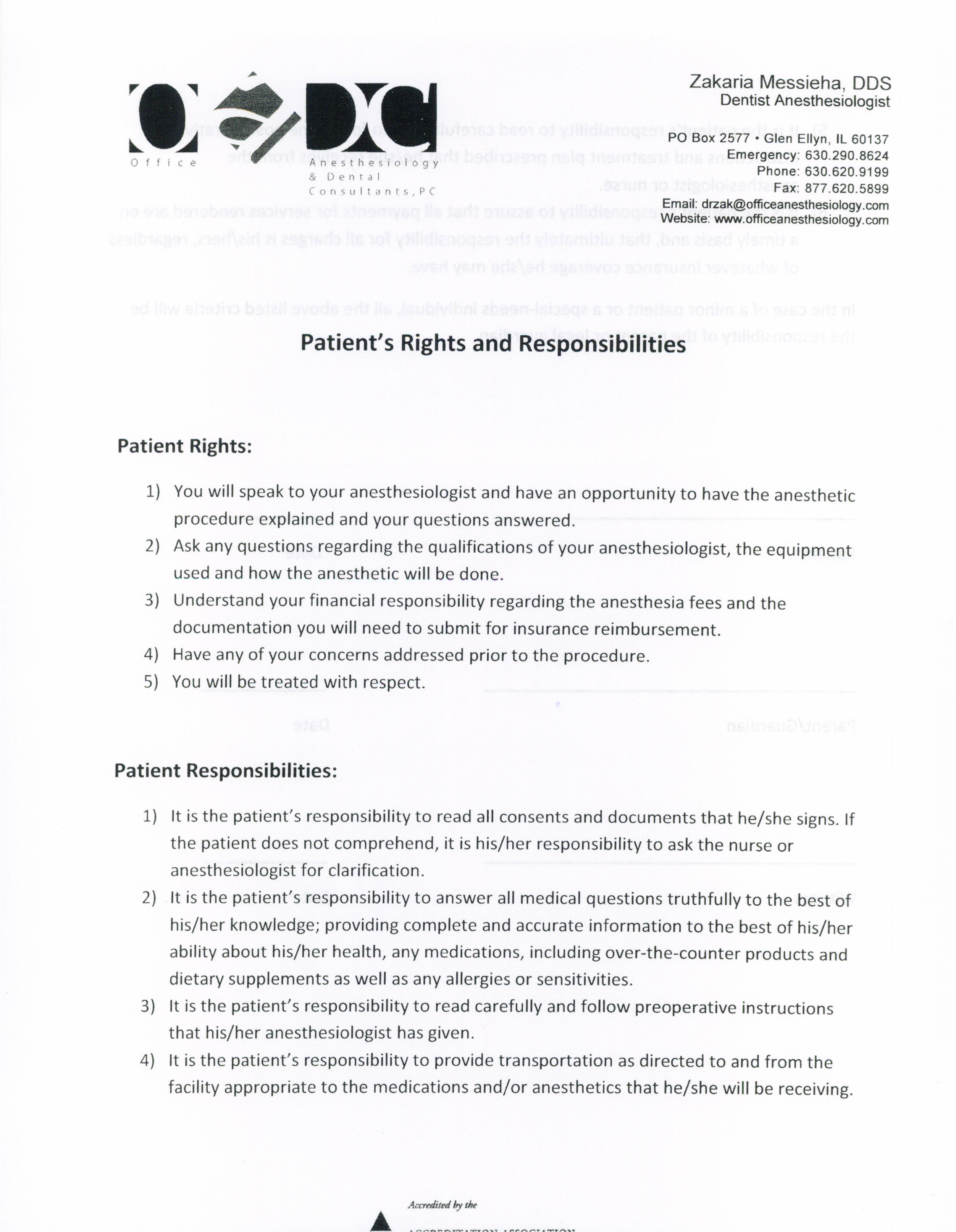 Patient Rights & Responsibilities -